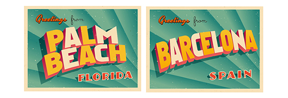 Greetings from the cold - Palm Beach Postcard